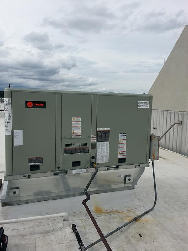 Trane Commercial Packaged Unit Installation